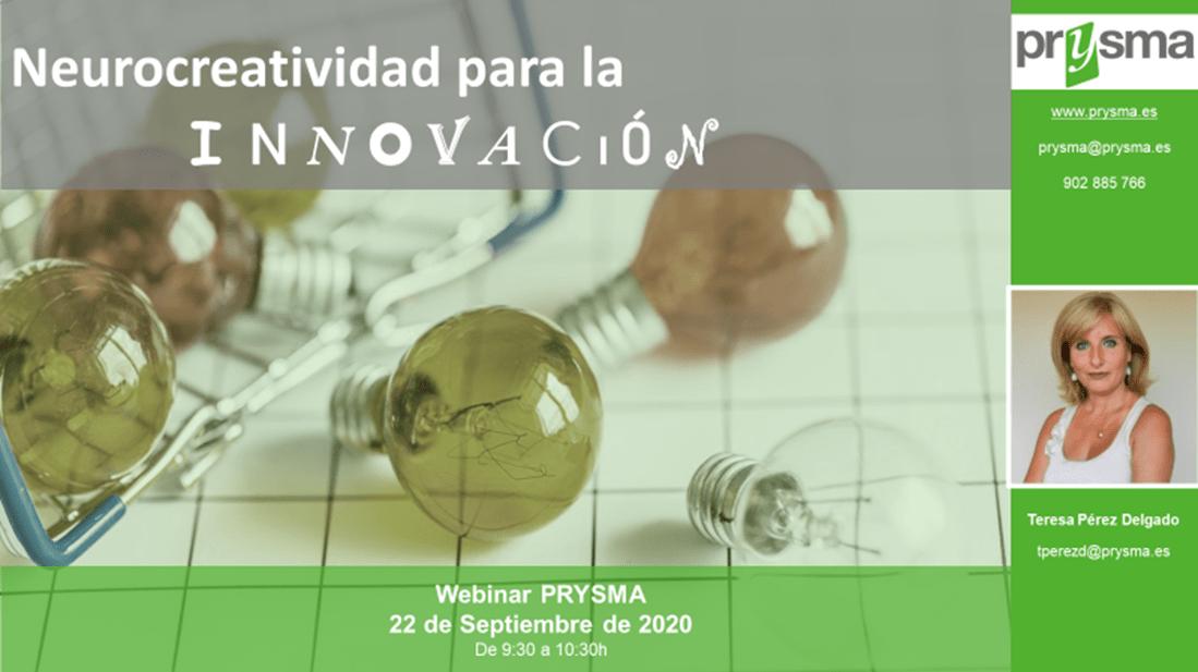 """Webinar """"Neurocreatividad. Cómo Potenciar La Innovación Disruptiva"""" El 22 De Septiembre De 2020 A Las 09:30 ¡Inscríbete¡"""